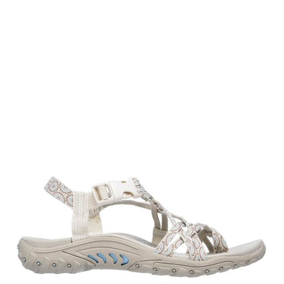 Skechers Women's Reggae Happy Rainbow Sandal - Natural 40881 - ShoeShackOnline