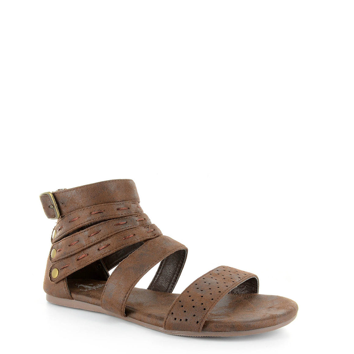 Corkys Women's Terrance Gladiator Sandal - Chocolate Distressed 41-0133