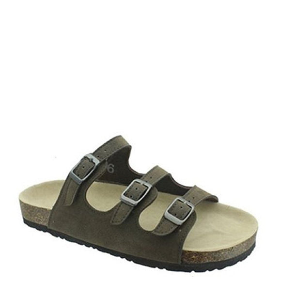 Outwoods Kid's Bork-47 3 Strap Sandal - Brown 41320-702