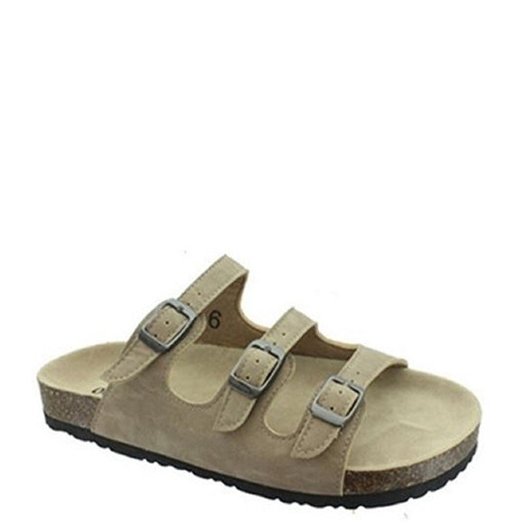 Outwoods Kid's Bork-47 3 Strap Sandal - Taupe 41320-734