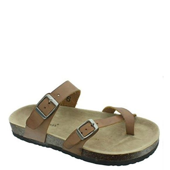 Outwoods Kid's Bork-41 Toe Wrap Sandal - Brown 41321-102 - ShoeShackOnline