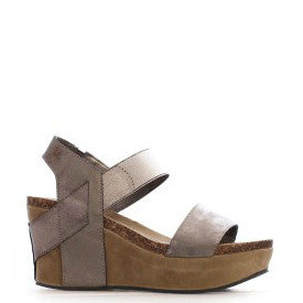 Pierre Dumas Girl's Chic-3 Wedge Sandal - Brown 42553-202 - ShoeShackOnline