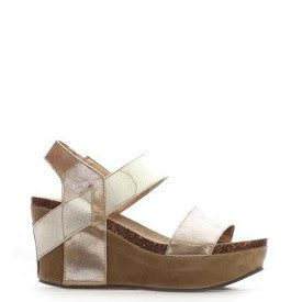 Pierre Dumas Girl's Chic-3 Wedge Sandal - Gold 42553-207 - ShoeShackOnline