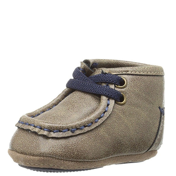 Double Barrel Toddler's Baby Buckers Smith Shoe - Brown 4422602 - ShoeShackOnline