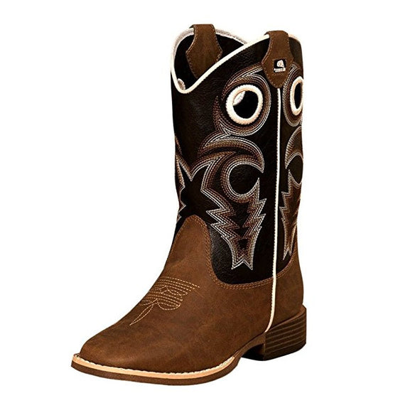 Double Barrel Boy's Trace Boot - Brown 4449202 - ShoeShackOnline