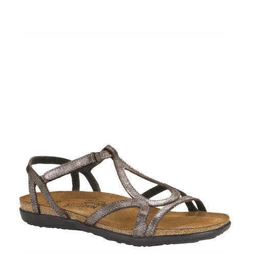 Naot Women's Dorith Sandal - Silver Threads Leather 04710 - ShoeShackOnline