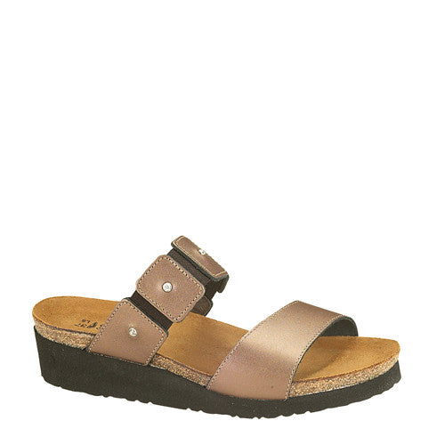 Naot Women's Ashley Slide Sandal - Copper Leather 04906 - ShoeShackOnline