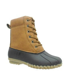 b5d3ac0f3 Pierre Dumas Girl s Bay-1 Duck Boot - Brown 49940-170 - ShoeShackOnline