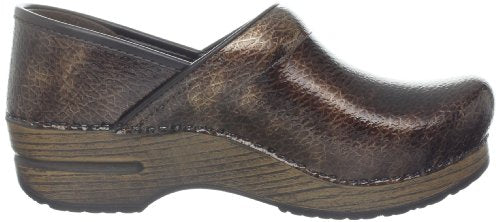 Dansko Women's Professional Clog - Brown Textured Patent 506067878