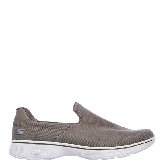 Skechers Men's Go Walk 4 Slip On - Khaki 54153 - ShoeShackOnline