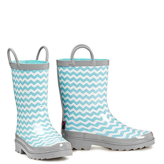 Double Barrel Kid's Rain Boots - Mint/Cream 58160
