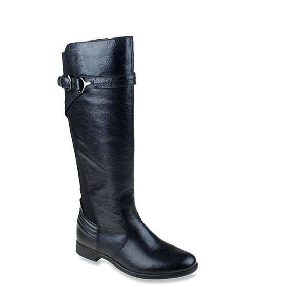 Earth Women's Woodstock Leather Riding Boot - Black 601164