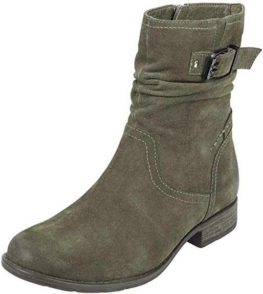 Earth Women's Beaufort Slouch Boot - Olive 602561