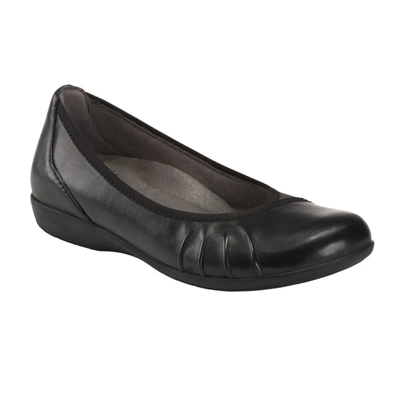 Earth Women's Alder Derby Flat - Black 603050WLEA