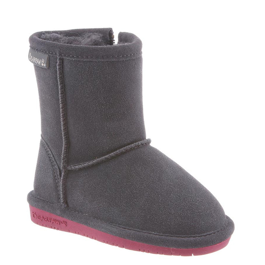 Bearpaw Toddler Emma Zipper Boot - Charcoal/Pomberry 608TZ