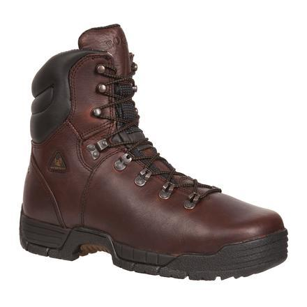 "Rocky Men's 8"" Mobilite Waterproof Steel Toe Work Boot - Brown 6115"