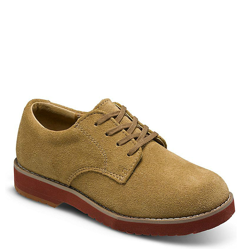 Sperry Big Kid's Tevin Suede Oxford - Camel 6353684 - ShoeShackOnline