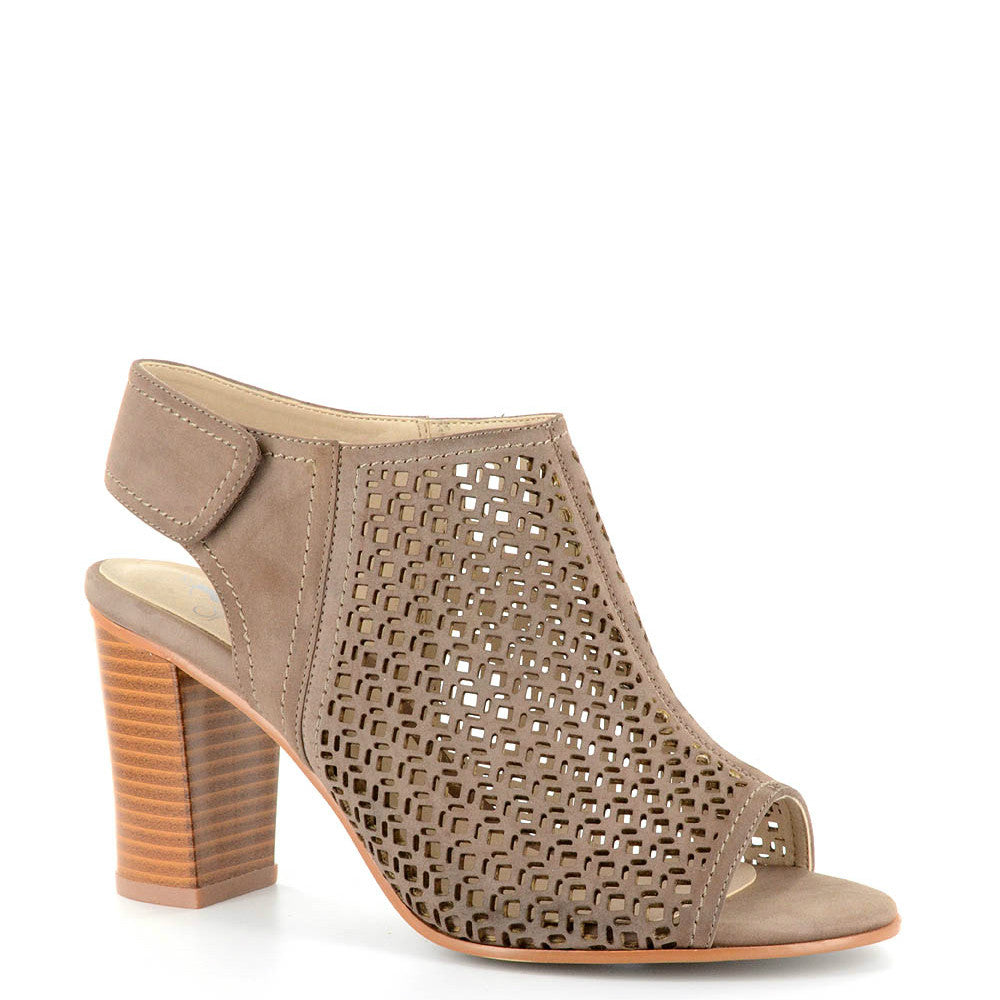 Corkys Women's Laser Cut-Out Peep Toe Heel - Taupe 65-0020