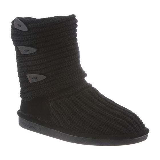 Bearpaw Women's Knit Tall - Black 658W - ShoeShackOnline