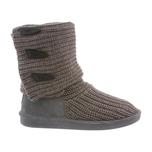 Bearpaw Women's Knit Tall - Gray 658W - ShoeShackOnline