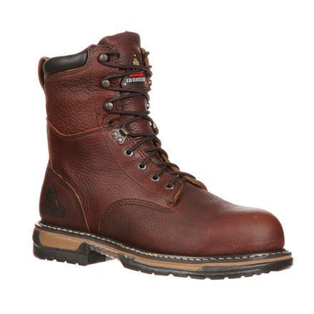 "Rocky Men's 8"" IronClad Waterproof Steel Toe Work Boot - Brown 6693"
