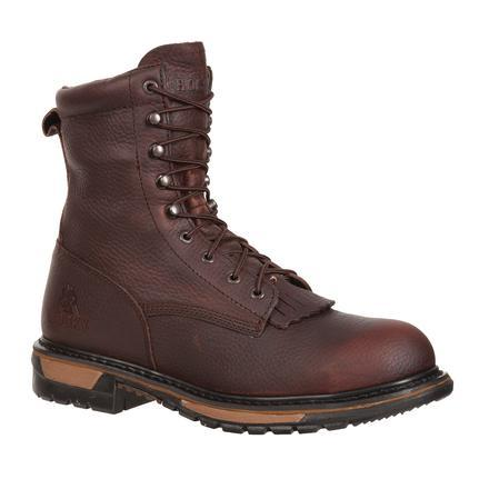Rocky Men's Original Ride Steel Toe Waterproof Lacer Western Work Boot - Brown FQ0006717