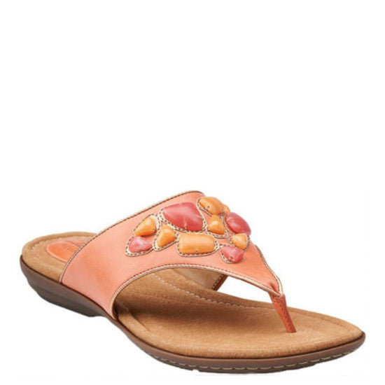 cd6a1f1833bff6 Clarks Women s Roya Kim - Coral Leather 68580 - ShoeShackOnline