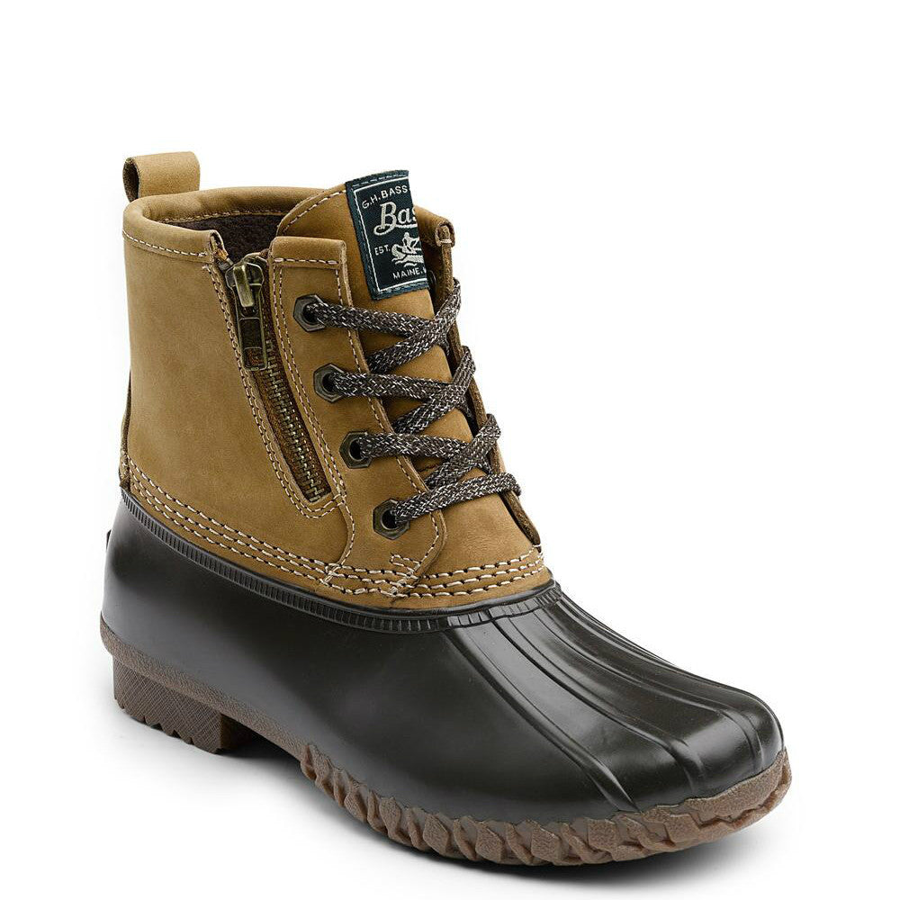 Bass Women's Danielle Duck Boot - Tan/Chocolate 71-22313 - ShoeShackOnline