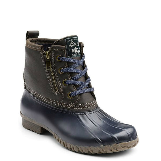 Bass Women's Danielle Duck Boot - Chocolate/Navy 71-22318 - ShoeShackOnline