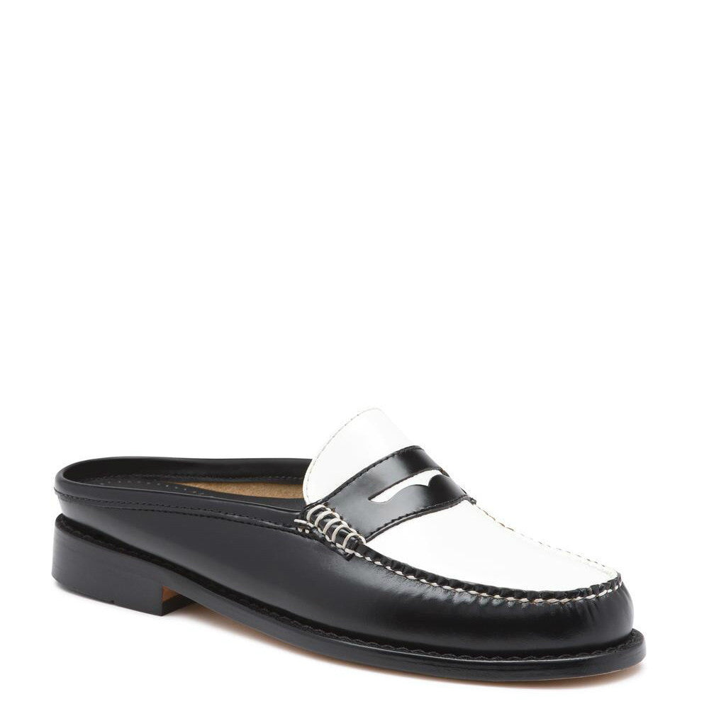 Bass Women's Weejuns Wynn Patent Leather Mule - Black/White 71-22864