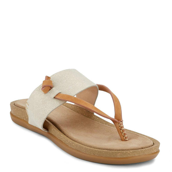 Bass Women's Sunjuns Shannon Thong Sandal - Gold 71-23012 - ShoeShackOnline