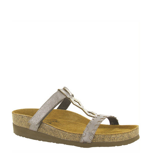 Naot Women's Aspen Sandal - Silver Threads/Mirror Leather 7292 - ShoeShackOnline