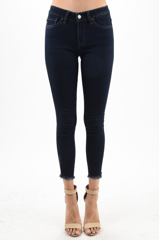 Women's Kan Can Gemma Low Rise Ankle Jeans KC6051HR