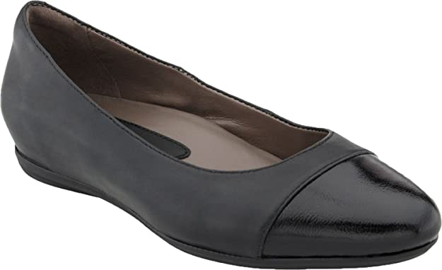 Earth Women's Hanover Ballet Flat - Black Leather 801551WLEA