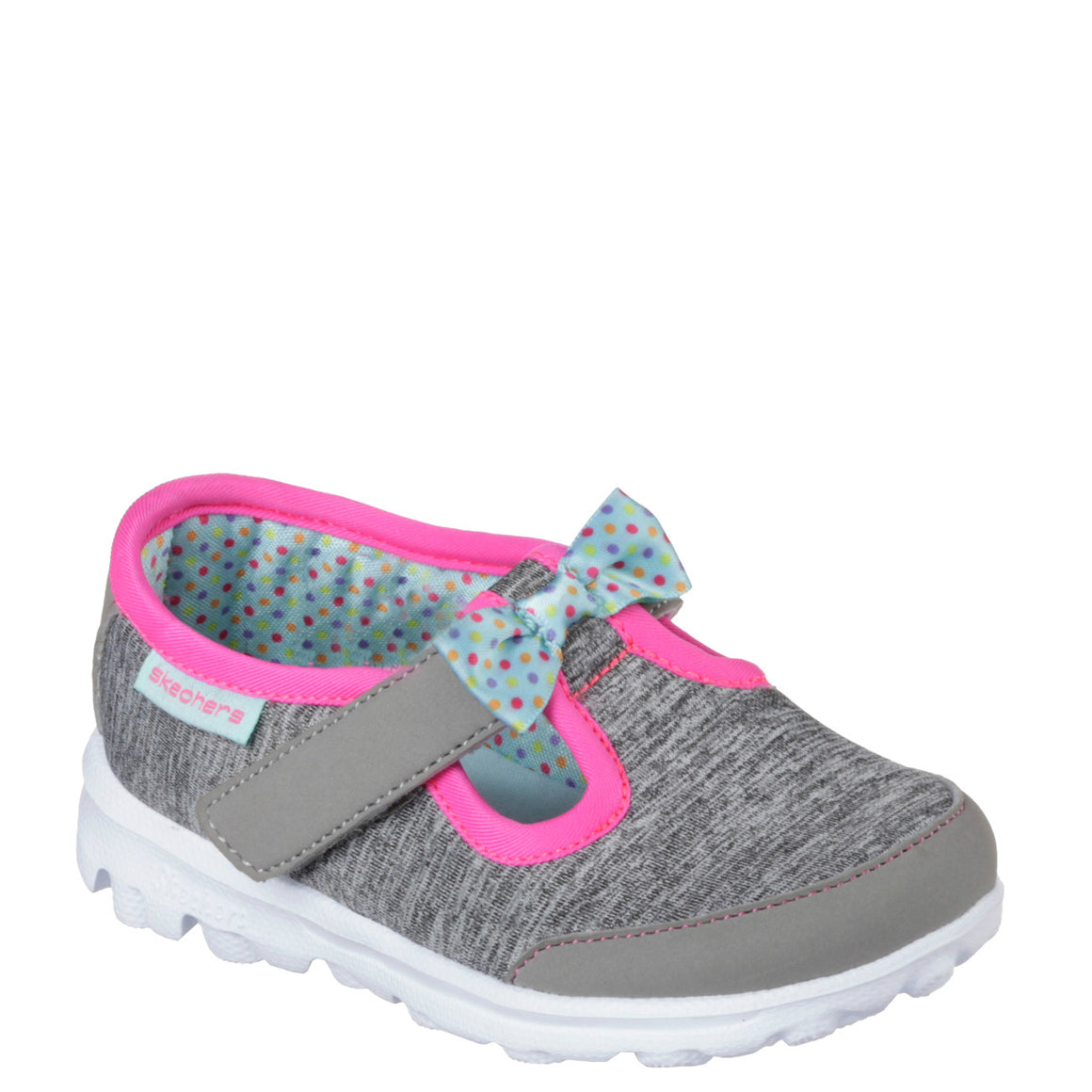 Skechers Infant's Go Walk Bitty Bow - Gray/Mint 81068