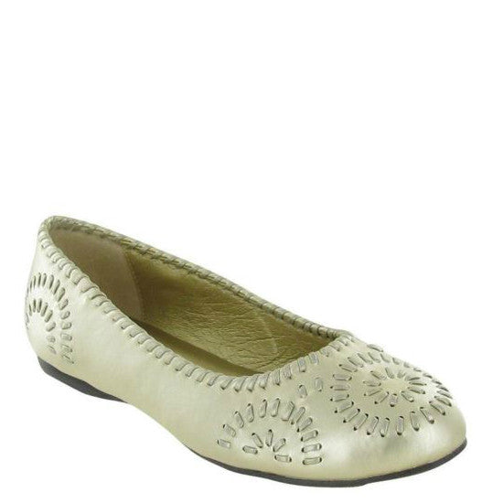 Pierre Dumas Women's Gloria-1 Flat - Gold 81475-207