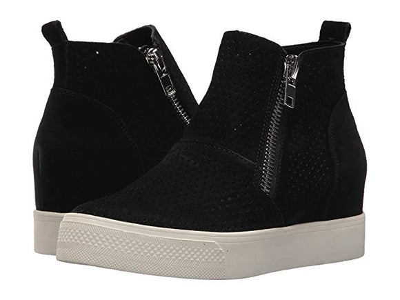 Madden Girl Women's Perfekt Fashion Sneakers - Black - ShoeShackOnline
