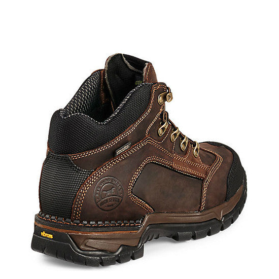 "Irish Setter Men's 5"" Two Harbors WP Steel Toe Work Boots - Brown 83402"