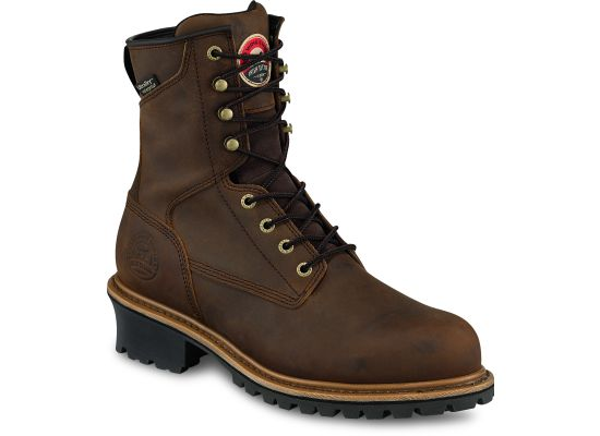 "Irish Setter Men's 8"" Steel Toe Waterproof Logger Boot - 83834"