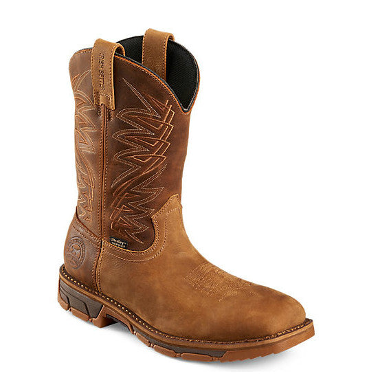 Irish Setter Men's Marshall WP Steel Toe Pull-On Work Boot - Brown 83912