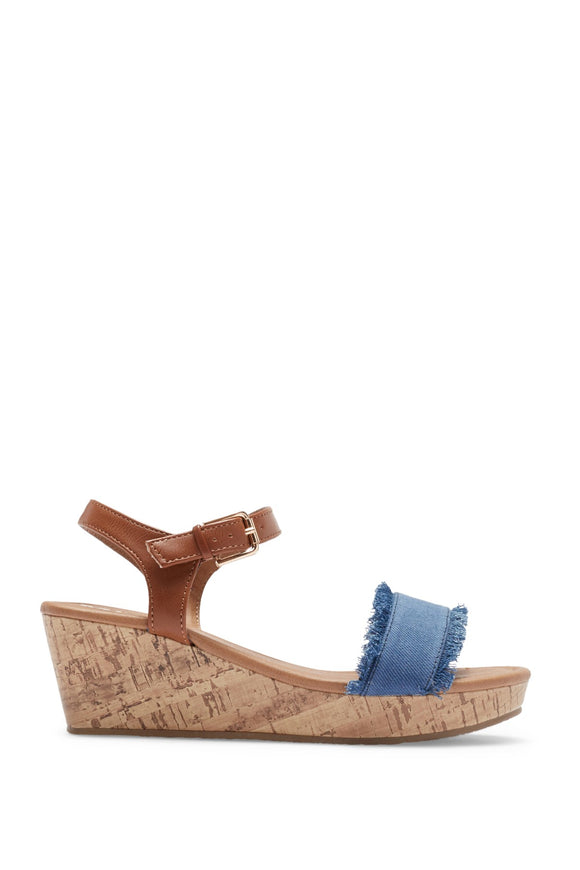 MIA Kid's Rita Wedge Sandal - Denim CSK112