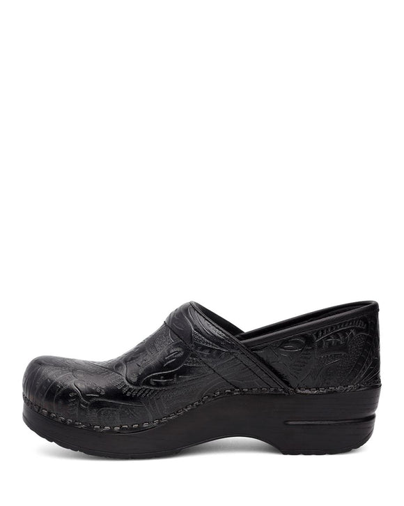 Dansko Women's Professional Clog - Black Tooled 906020202