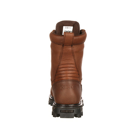 "Rocky Men's 9"" BearClaw3D Insulated Waterproof Work Boot - Brown FQ0009237 - ShoeShackOnline"