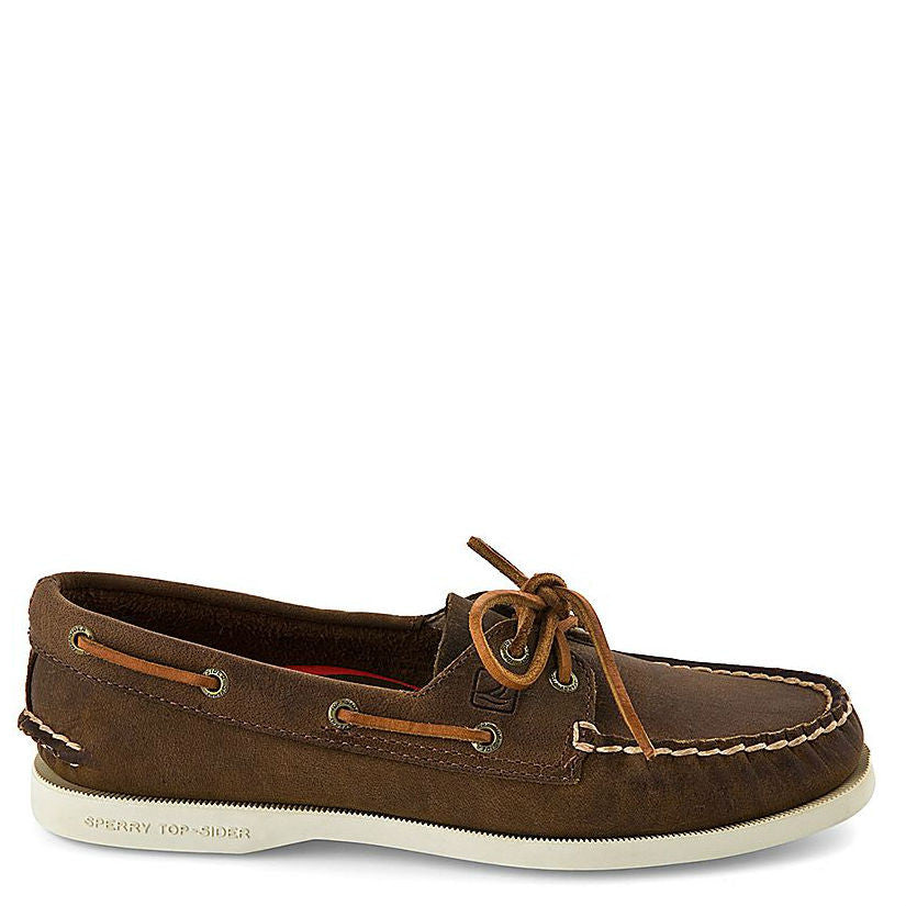 Sperry Women's Authentic Original 2-Eye Boat Shoe - Brown Distressed 9265562