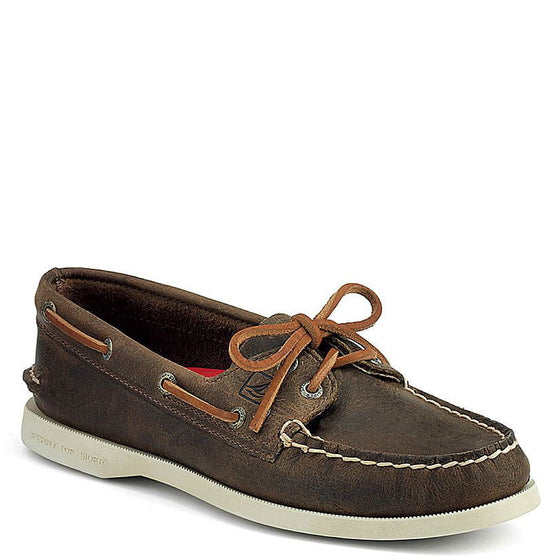 Sperry Women's Authentic Original 2-Eye Boat Shoe - Brown Distressed 9265562 - ShoeShackOnline