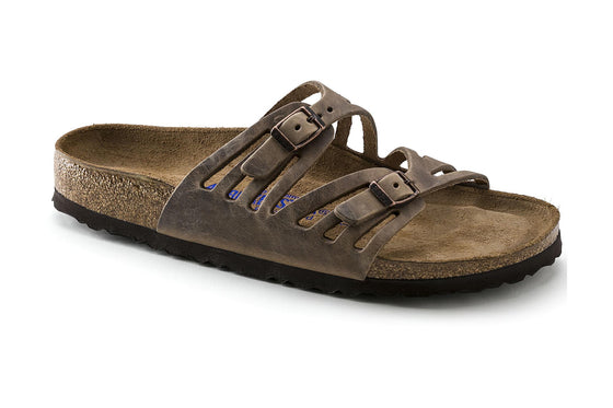 Birkenstock Women's Granada Soft Footbed - Tobacco | Oiled Leather 092881 - ShoeShackOnline