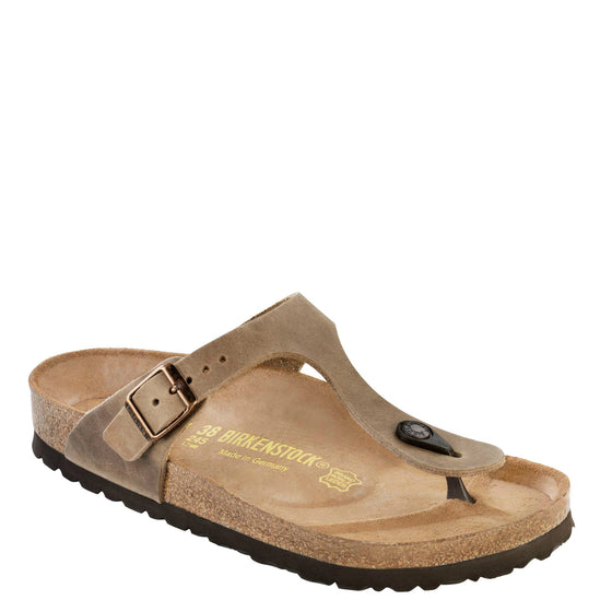 Birkenstock Women's Gizeh - Tobacco | Oiled Leather 943811 - ShoeShackOnline