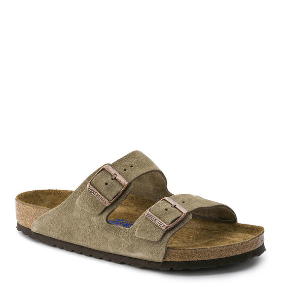 Birkenstock Arizona Soft Footbed - Taupe | Suede 951301 - ShoeShackOnline