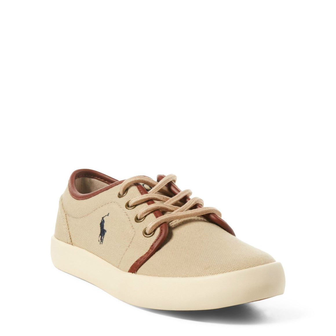 Polo Boy's Ethan Low Canvas Sneaker - Khaki 990547C