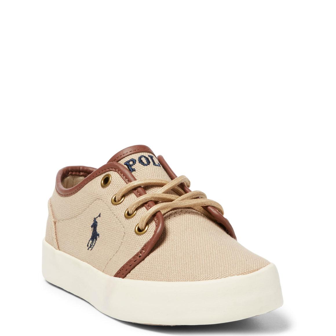 Polo Youth Ethan Low Canvas Sneaker - Khaki 990547J - ShoeShackOnline
